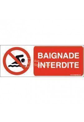 Panneau Baignade interdite-B