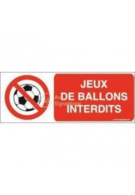 Panneau Jeux de ballons interdits-B