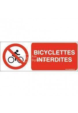 Panneau Bicyclettes interdites-B