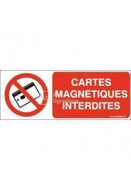 Panneau Cartes magnétiques interdites-B