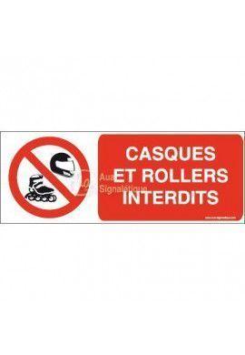 Panneau Casques et rollers interdits-B