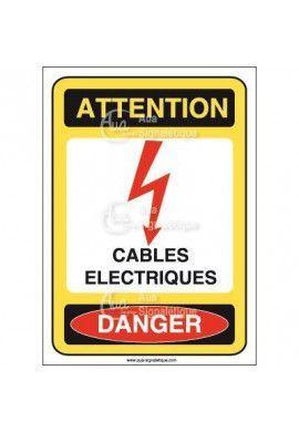 Panneau cables électriques