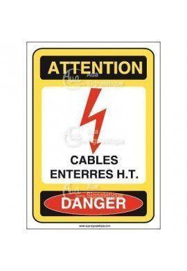 Panneau cables enterrés haute tension