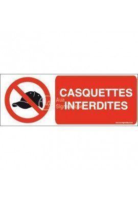 Panneau Casquettes interdites-B