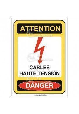 Panneau cables haute tension
