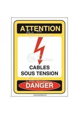 Panneau cables sous tension