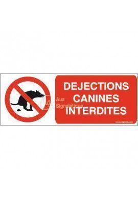 Panneau Déjections canines interdites-B