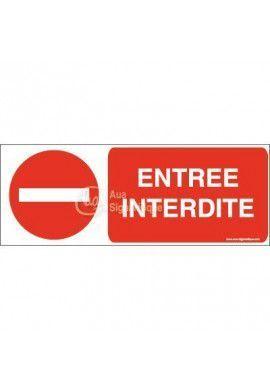 Panneau Entrée interdite avec picto-B