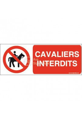 Panneau Cavaliers interdits-B