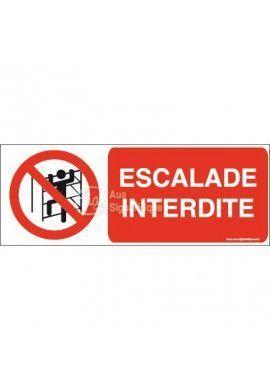 Panneau Escalade interdite-B