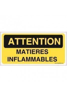 Panneau Matières inflammables-C