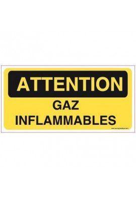 Panneau Gaz inflammables