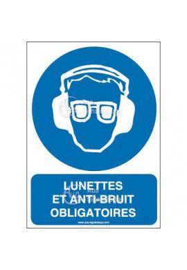 Panneau lunettes et anti-bruit obligatoires AI