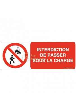 Panneau Interdiction de passer sous la charge-B