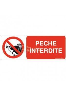 Panneau Pêche interdite-B