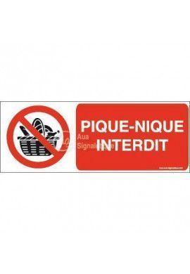 Panneau Pique-nique interdit-B