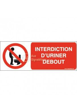Panneau Interdiction d'uriner debout-B