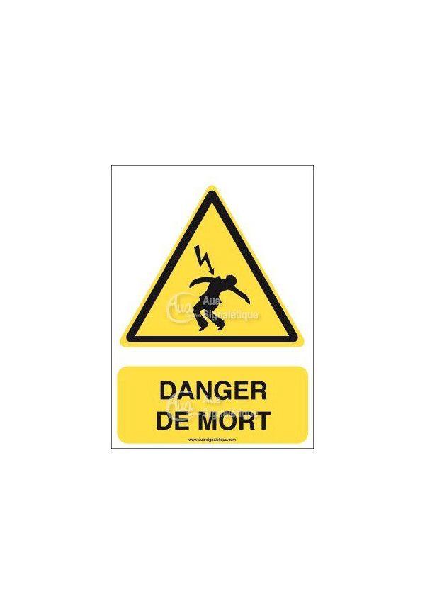 Panneau Danger de Mort - V