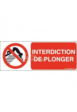 Panneau Interdiction de plonger-B