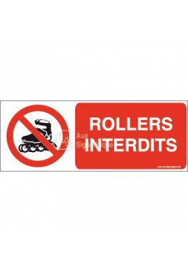 Panneau Rollers interdits-B