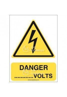 Panneau Danger Volts - V