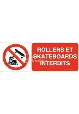 Panneau Rollers et skateboards interdits-B