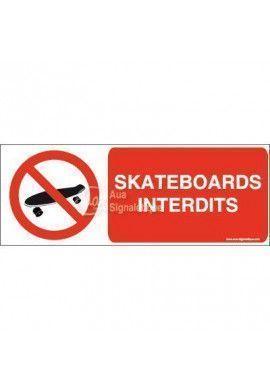 Panneau Skateboards interdits-B
