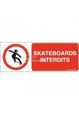 Panneau Skateboards picto interdits-B