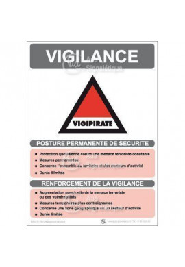 Panneau Vigilance Vigipirate - V