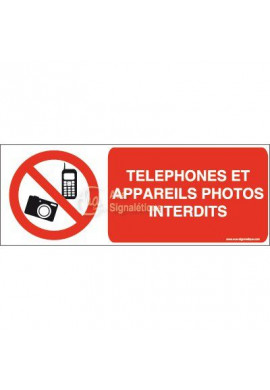 Panneau Téléphones et appareils photos interdits-B