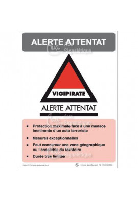 Panneau Alerte Attentat Vigipirate - V