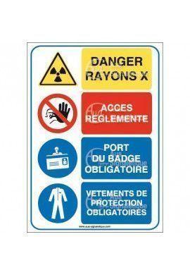 Panneau quatro danger rayon x