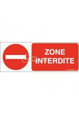 Panneau Zone interdite-B