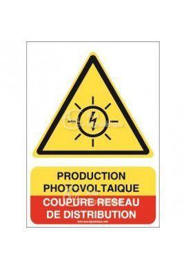 Panneau Prod photovoltaïque coupure réseau de distrib - AI