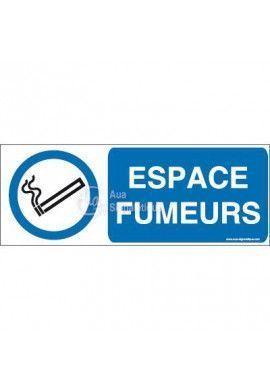 Panneau Espace fumeurs-B