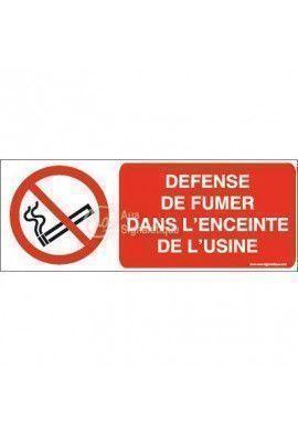 Panneau Défense de fumer dans l'enceinte de l'usine-B