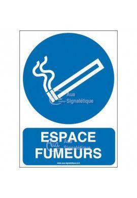 Panneau Espace fumeurs-AI