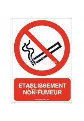 Panneau Établissement non fumeurs-AI