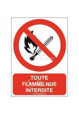 Panneau Toute flamme nue interdite-AI