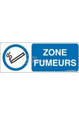 Panneau Zone fumeurs-B