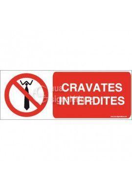 Panneau Cravates Interdites - Horiz