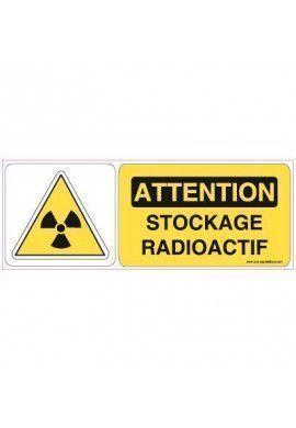 Panneau Stockage radioactif-B