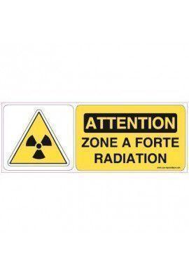 Panneau Zone à forte radiation-B
