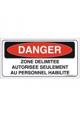 Panneau Zone délimitée