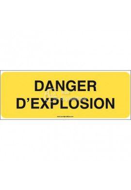 Panneau danger d'explosion - B