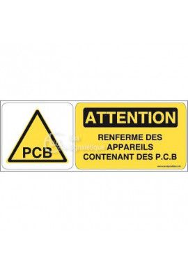 Panneau attention contenance de PCB - B