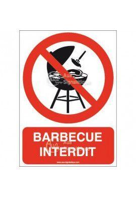 Panneau Barbecue Interdit - Verti