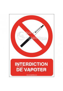 Panneau Interdiction de Vapoter - Verti
