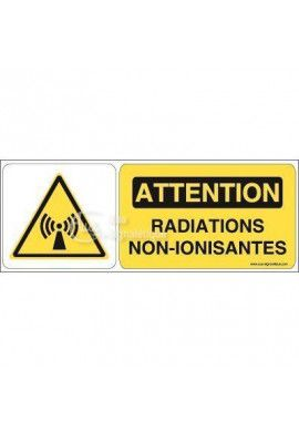 Panneau attention radiations non-ionisantes - B