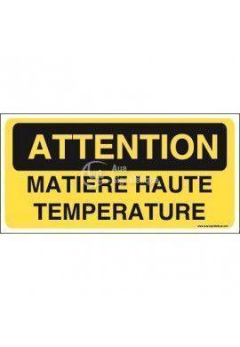 Panneau matière haute température
